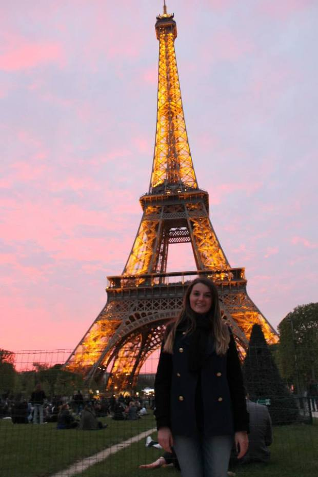 Briana at the Eiffel Tower in Paris, France